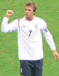 David Beckham Becks England 94 Caps